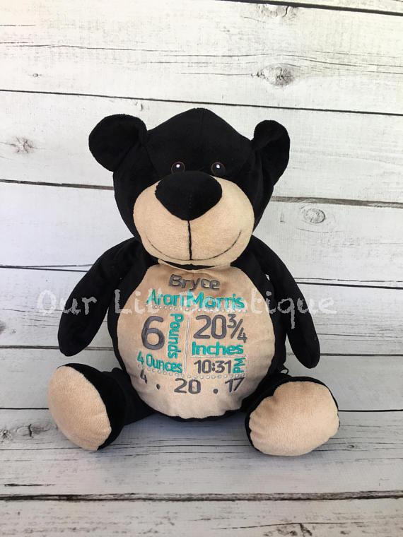 Black Bear - Personalized Stuffed Animal - Personalized Animal - Personalized Black Bear