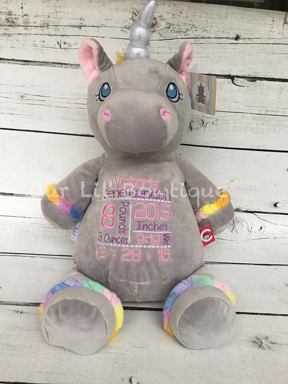 Unicorn - Personalized Stuffed Animal - Personalized Animal - Personalized Unicorn