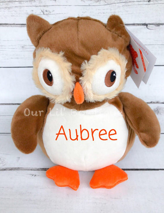 Owl - Personalized Stuffed Animal - Personalized Animal - Personalized Owl
