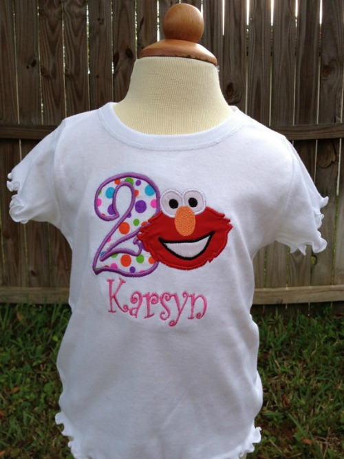 Elmo Birthday Shirt - Girl