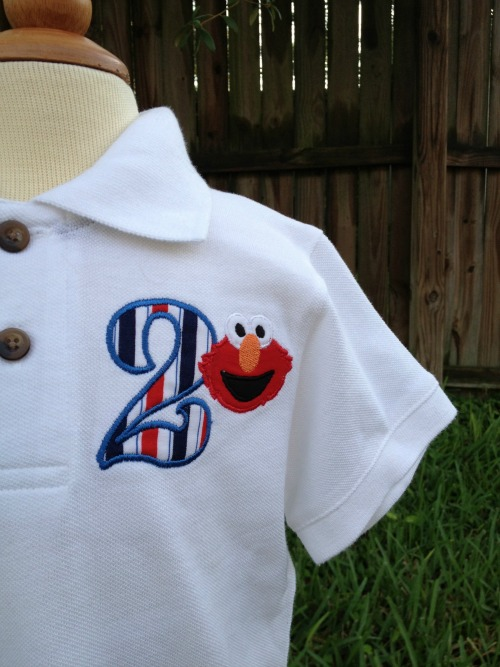 Elmo Birthday Polo