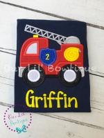 Firetruck Birthday Shirt - Firetruck Shirt - Firefighter Birthday Shirt - Firetruck Birthday - Birthday Shirt - Personalized Firetruck