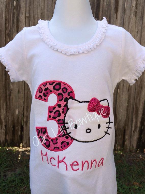 Hello Kitty Inspired Birthday Shirt