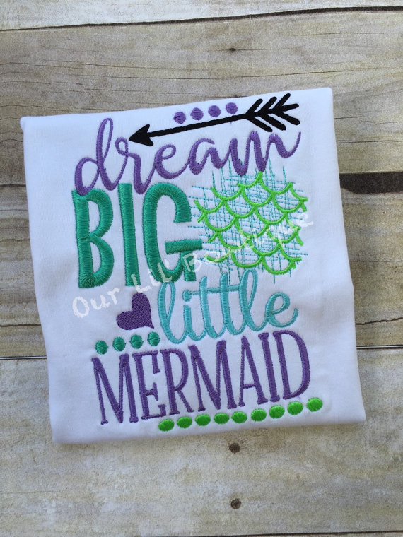 Dream Big Little Mermaid Birthday Shirt