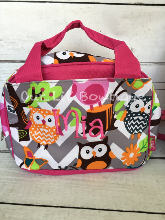 Quilted Personalized Backpack - Monogrammed Backpack- Personalized Bag - Backpacks - Quilted - Owl