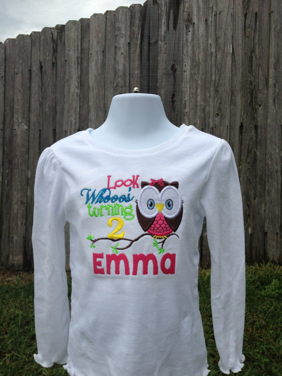 Look Whooo's Turning 2 - Owl Birthday Shirt - Look Whooo's