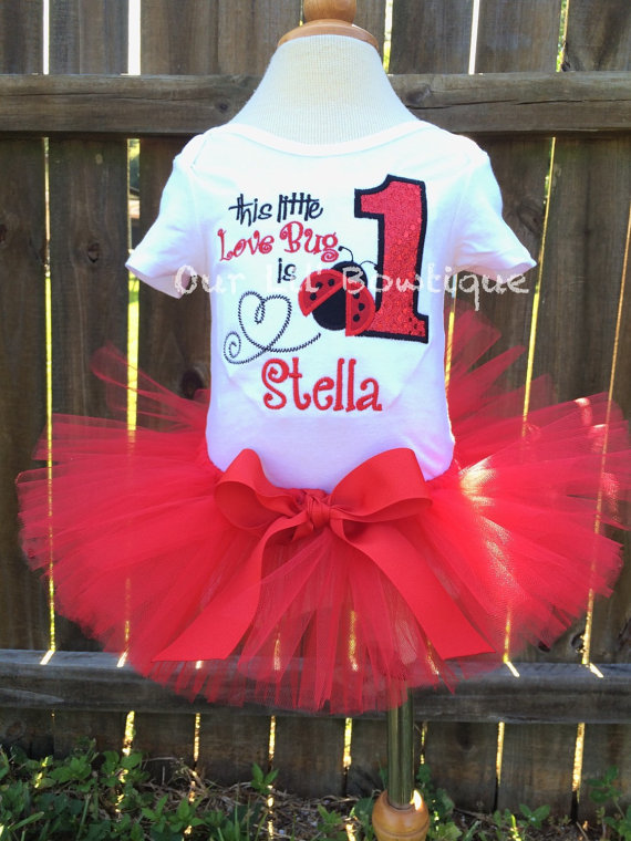 Lady Bug Birthday Shirt Personalized