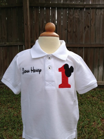 Mickey Mouse Birthday Polo