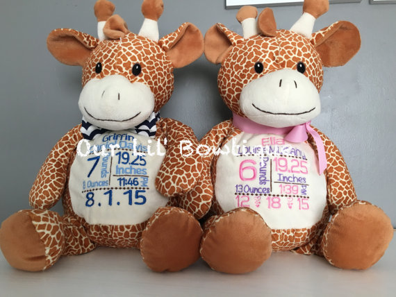 Giraffe - Personalized Stuffed Animal - Personalized Animal - Personalized Giraffe