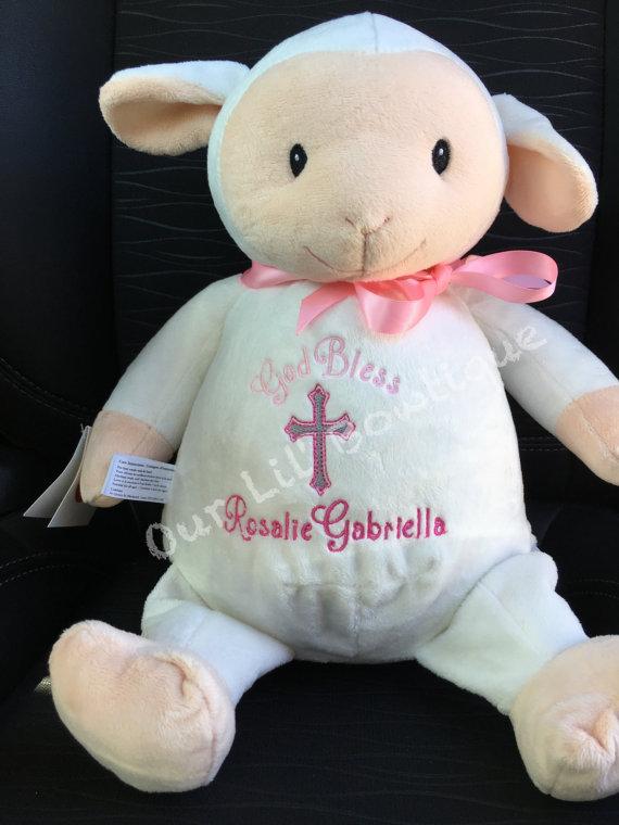 Lamb - Personalized Stuffed Animal - Personalized Animal - Personalized Lamb