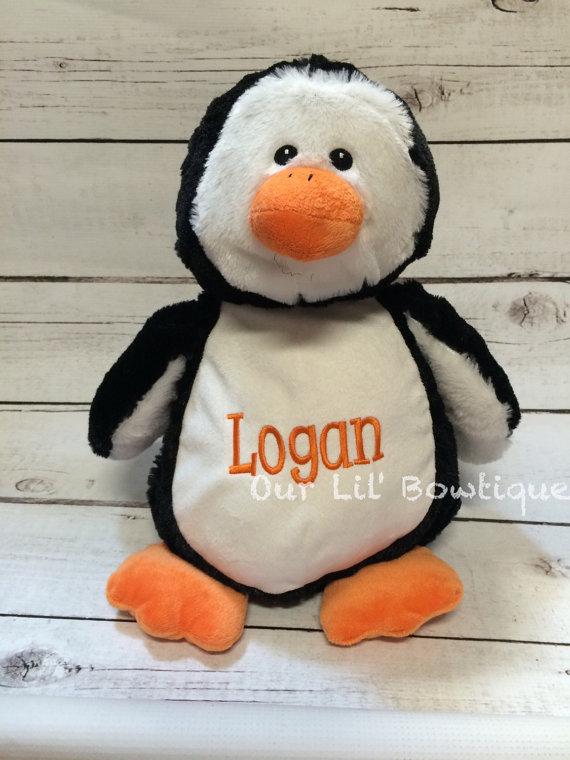 Penguin - Personalized Stuffed Animal - Personalized Animal - Personalized Penguin