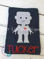 Boys Valentine Robot Shirt - Valentine Shirt - Robot - Personalized Valentine Shirt