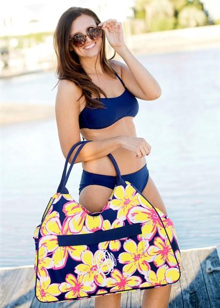 Weekender Bag - Beach Bag - Monogrammed- Personalized Bag - Picnic Basket - Personalized Shopping Bag