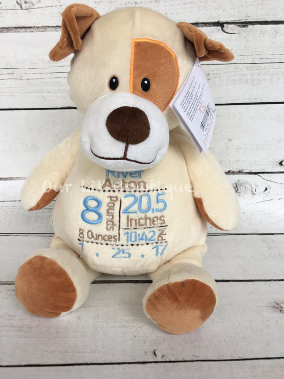 Dog - Personalized Stuffed Animal - Personalized Animal - Personalized Dog