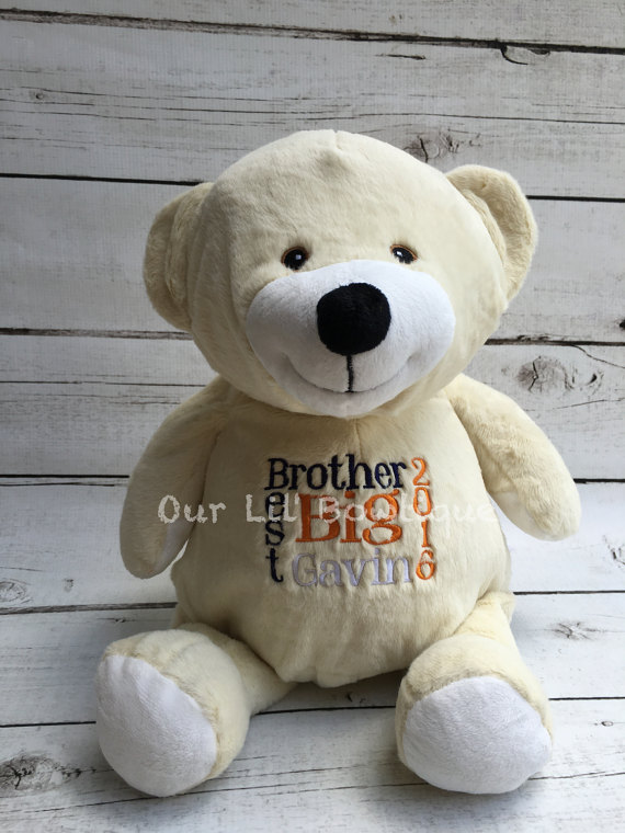 Bear - Personalized Stuffed Animal - Personalized Animal - Personalized French Vanilla Polar Bear