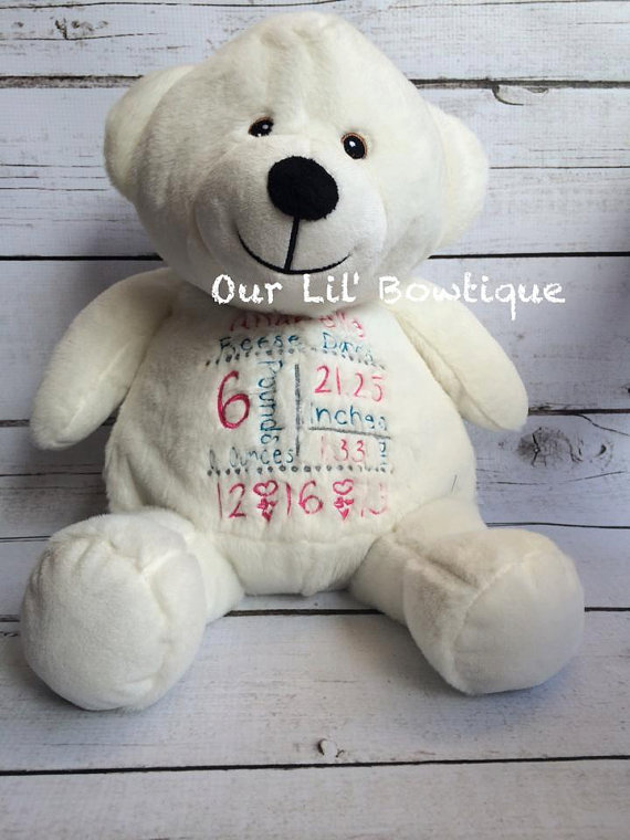 White Bear - Personalized Stuffed Animal - Personalized Animal - Personalized White Polar Bear