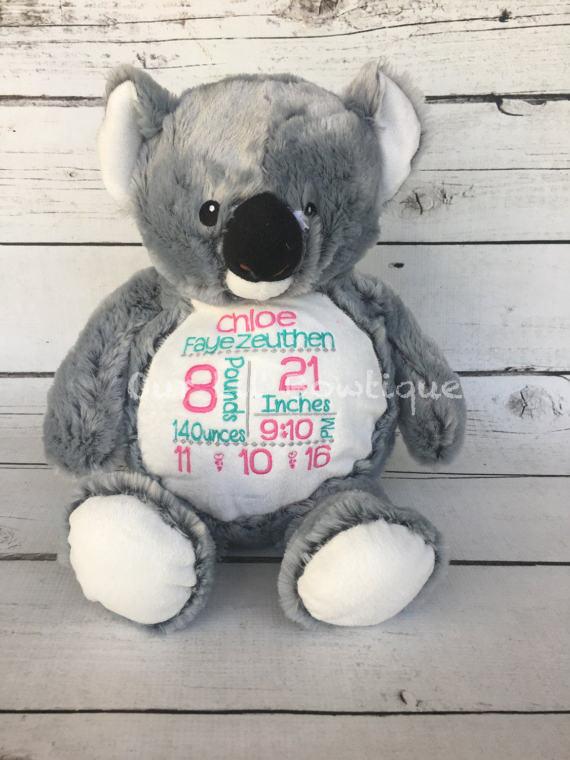Koala - Personalized Stuffed Animal - Personalized Animal - Personalized Koala