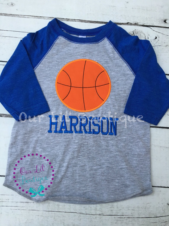 Raglan Basketball Shirt - Personalized Shirt - Basketball Shirt - Toddler - Baby - Basketball Brother - Raglan Shirt - Birthday