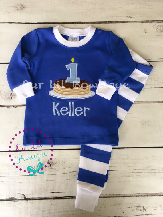 Pancake personalized Birthday Shirt - Pancake Personalized PJs - Personalized Pancake Shirt - Pancake Birthday - Pancake Applique - Pancake