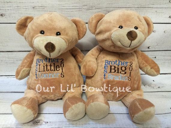 Brown Bear - Personalized Stuffed Animal - Personalized Animal - Personalized Brown Bear