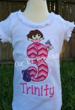 Dora and Friends Birthday Shirt - Dora and Boots Shirt - Dora Birthday