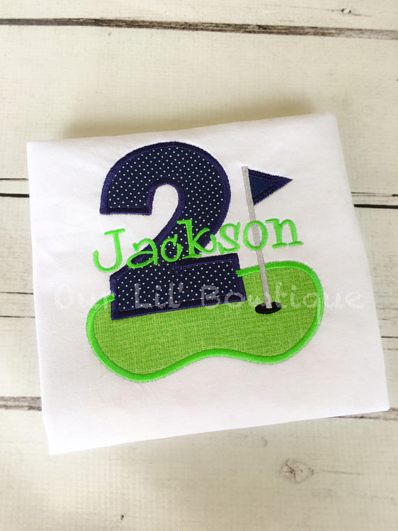 Golf Birthday Shirt - Boys Birthday Shirt - Boys Golf Shirt - Baby Boy Birthday Shirt