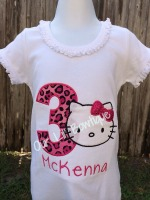Hello Kitty Inspired Birthday Shirt