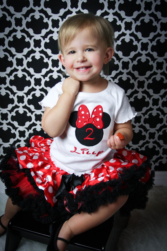 Minnie Mouse Birthday Shirt or Mickey Mouse Birthday Shirt