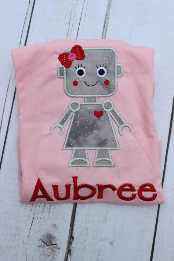 Valentine Robot Shirt - Valentine Shirt - Robot - Personalized Valentine Shirt
