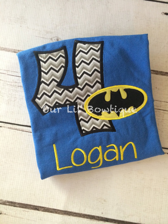 Batman Inspired Birthday Shirt - Batman Shirt - Superhero Birthday - Personalized Birthday Shirt - Boy
