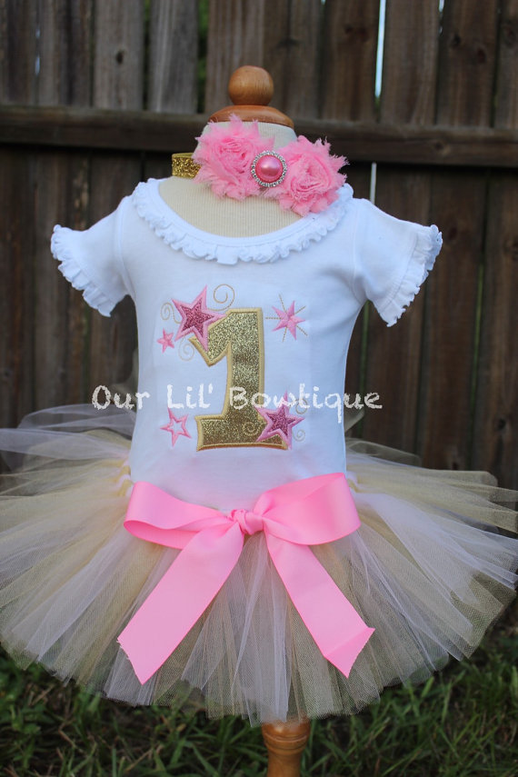 Twinkle Twinkle Little Star Birthday Shirt- Personalized Birthday Shirt - Personalized Star Girl - 1st Birthday Outfit - Tutu