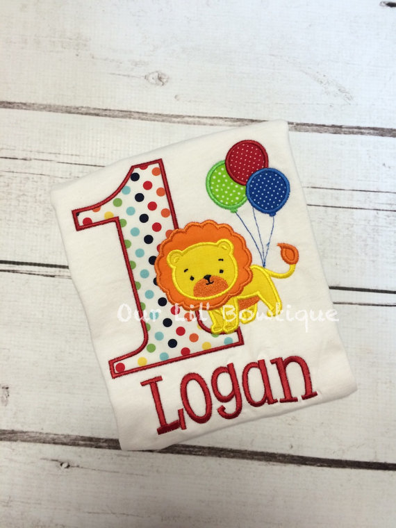 Circus Birthday Shirt- Personalized Birthday Shirt - Personalized Circus - 1st Birthday Outfit - Girl or Boy - Tutu - Lion