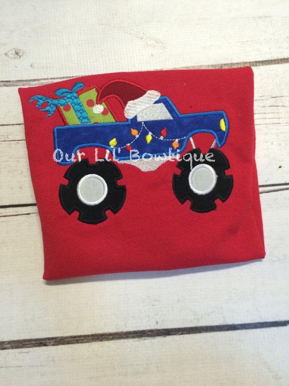 Christmas Monster Truck - Monster Truck Shirt - Christmas Truck - Christmas Shirt - Personalized Christmas Shirt