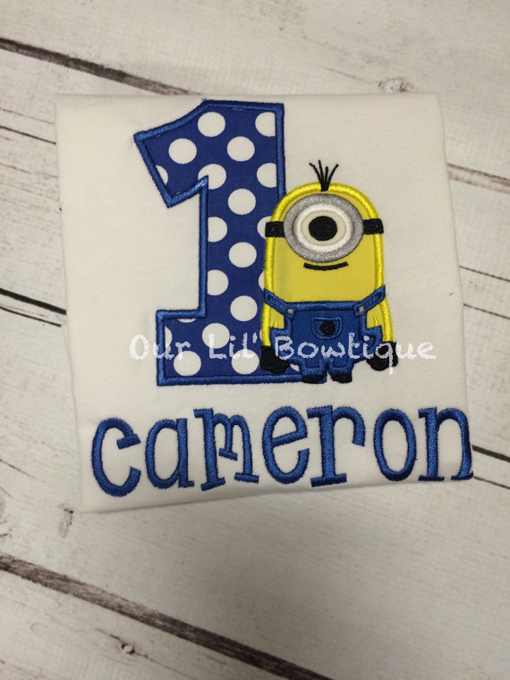 Minion inspired Birthday Shirt - Helper Birthday - Personalized Birthday Shirt