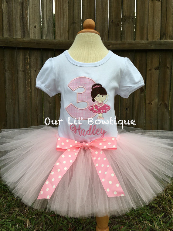 Ballerina Shirt - Ballerina Birthday Shirt - Birthday Shirt - First Birthday- Tutu-Birthday Outfit - Ballet - Ballet Birthday - Ballet Shirt