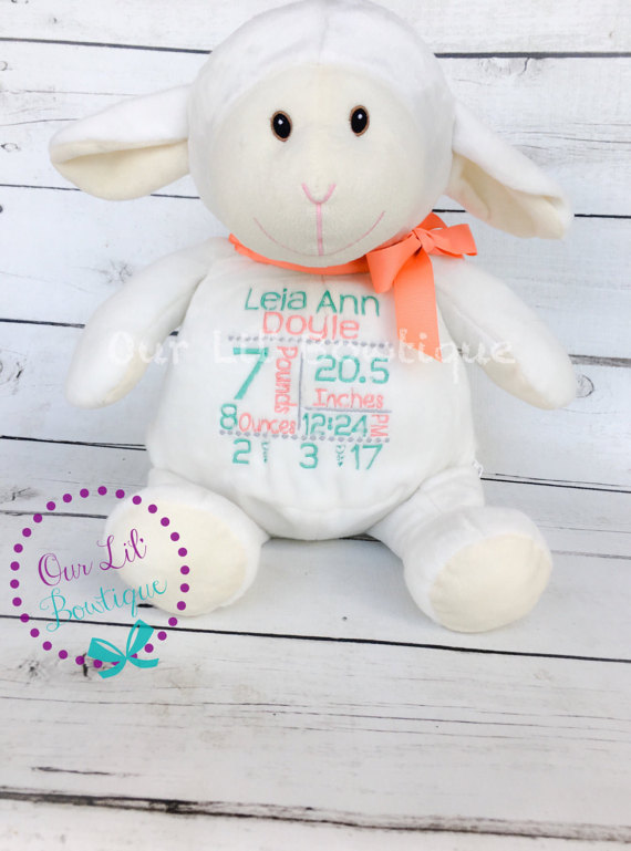 Lamb - Personalized Stuffed Animal - Personalized Animal - Personalized Lamb