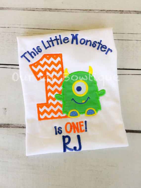 Monster Birthday Shirt - Personalized Birthday - Personalized Monster - Monster Birthday - 1st Birthday Shirt - Monster Birthday Outfit