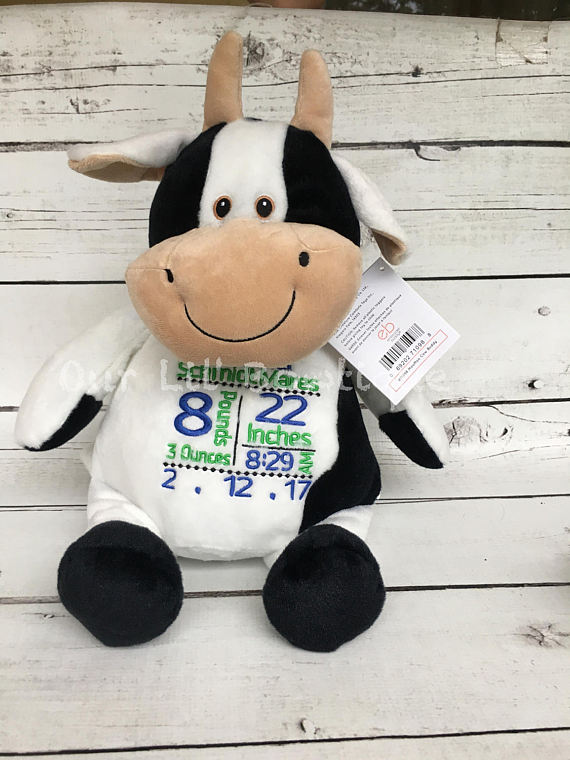 Cow - Personalized Stuffed Animal - Personalized Animal - Personalized Cow