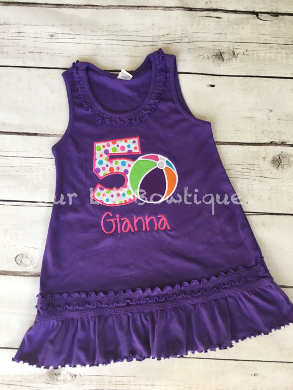 Pool Party Birthday Shirt- Personalized Birthday Shirt - Beach Party -1st Birthday Outfit - Tutu - Beach Birthday - Beach Ball - Pool Party