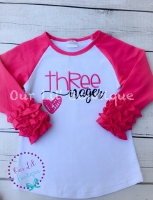 Threenager Birthday Shirt- Personalized Birthday - Personalized - Birthday Shirt -  Birthday - 3rd Birthday - Threenager shirt - Three