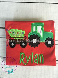 Tractor Shirt - Tractor Birthday Shirt - Boys Tractor - Birthday Shirt - Tractor Birthday Party - Girls Tractor Birthday - Farm Birthday