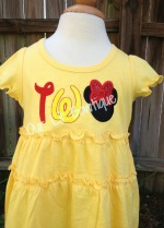TWO Minnie Shirt - TWO Minnie Dress - TWO Mickey Shirt - Mickey 2nd Birthday - Minnie 2nd Birthday