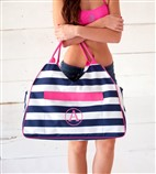 Weekender Bag - Beach Bag - Monogrammed- Personalized Bag - Picnic Basket - Personalized Shopping Bag