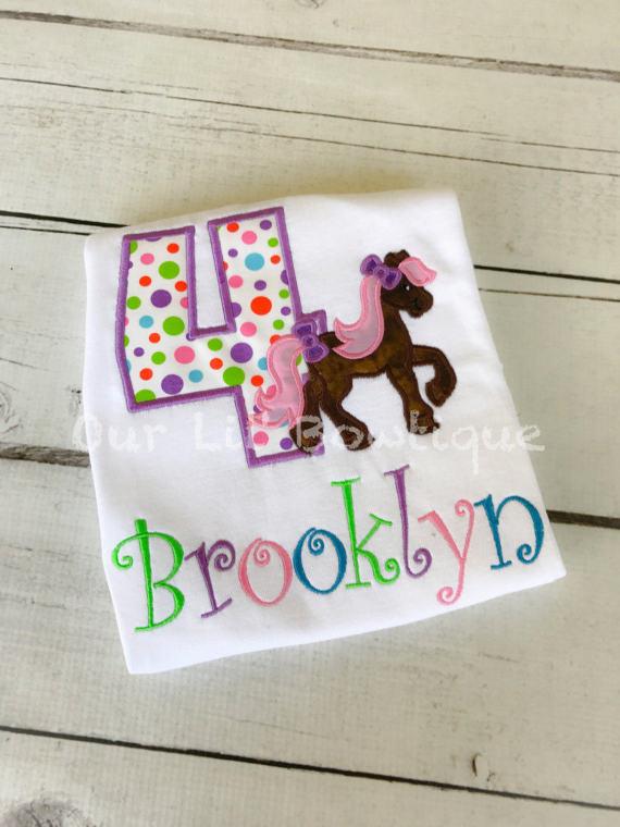Pony Birthday Shirt - Horse Birthday Shirt