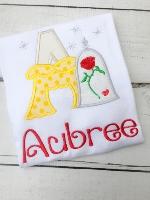 Rose Princess Alaphabet Shirt - Rose Princess - Princess Birthday Shirt - Princess Personalized Shirt