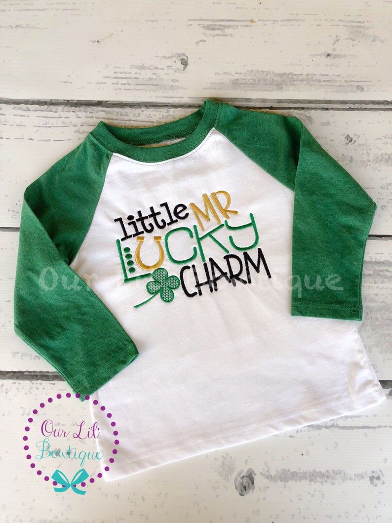 Little Mister Lucky Charm Shirt - Boys St. Patrick's Day Shirt