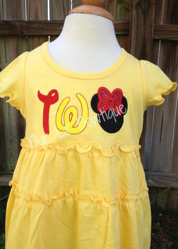 TWO Minnie Shirt - TWO Minnie Dress - TWO Mickey Shirt - Mickey 2nd Birthday - Minnie 2nd Birthday