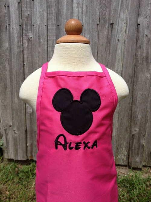 Mickey or Minnie Mouse Toddler Apron