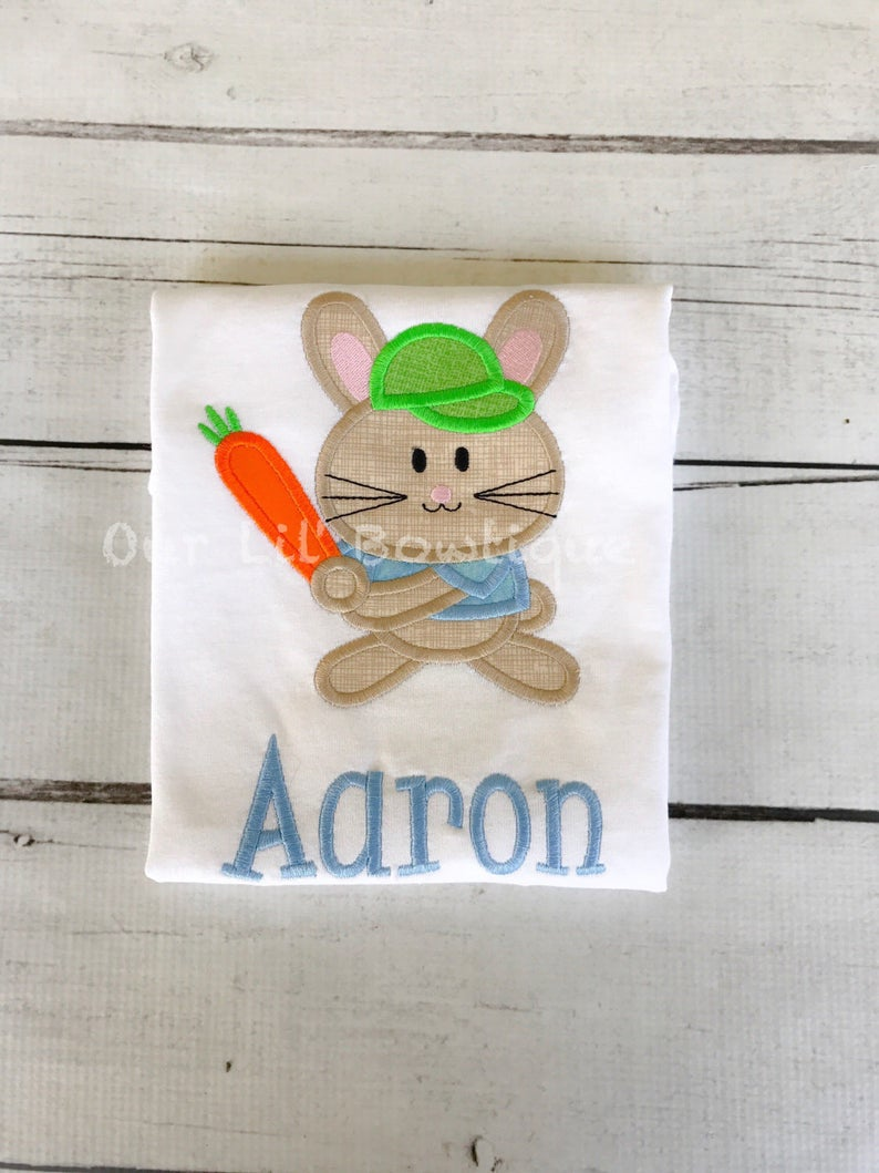 Baseball Easter Bunny Shirt - Personalized Easter Shirt