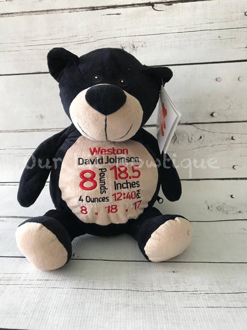 Black Bear Personalized Stuffed Animal